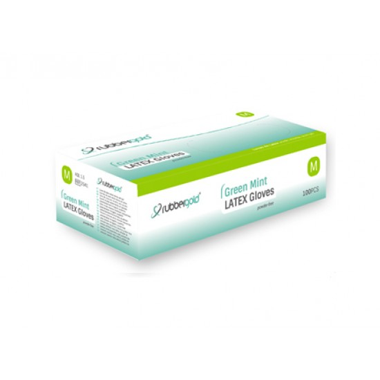 Latex Gloves - Mint - Powder-Free - 100 units