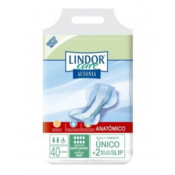 Lindor Care - Anatomical Pads - Maxi - 40 units
