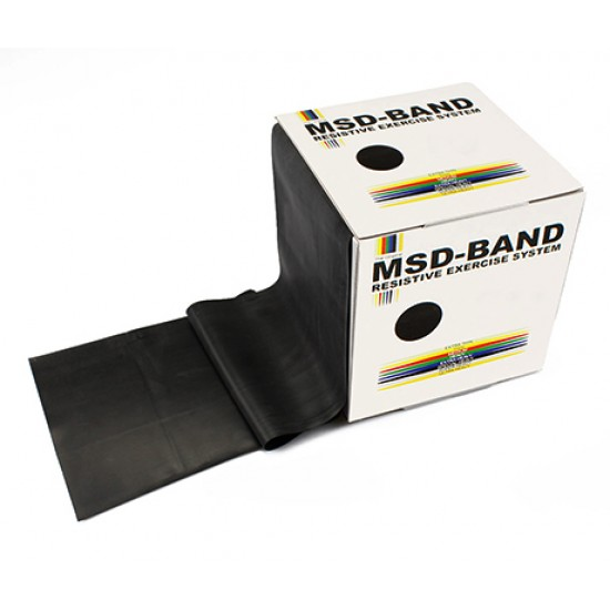 MSD-Band Black - Special Heavy - 14cm x 5,5m (like Theraband)