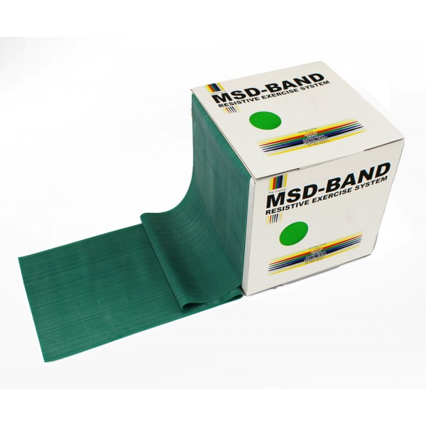 MSD-Band Green - Heavy - 14cm x 5,5m (like Theraband)