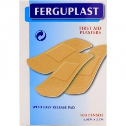 First Aid Plasters – 6,4x2cm – 100 units